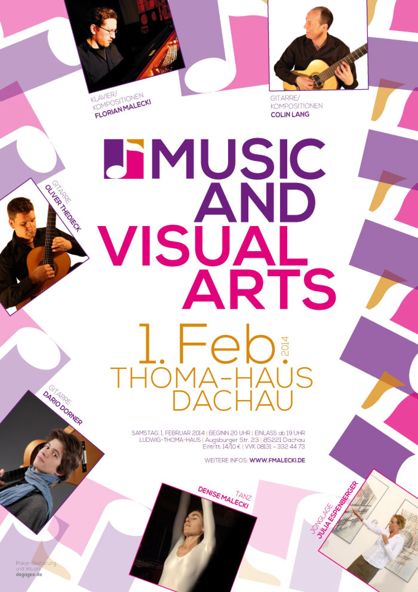 Konzert 1. Feb. 2014 Music And Visual Arts